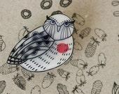 Burrowing Owl Pin