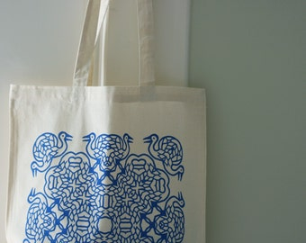 Blue Cranes Tote Bag