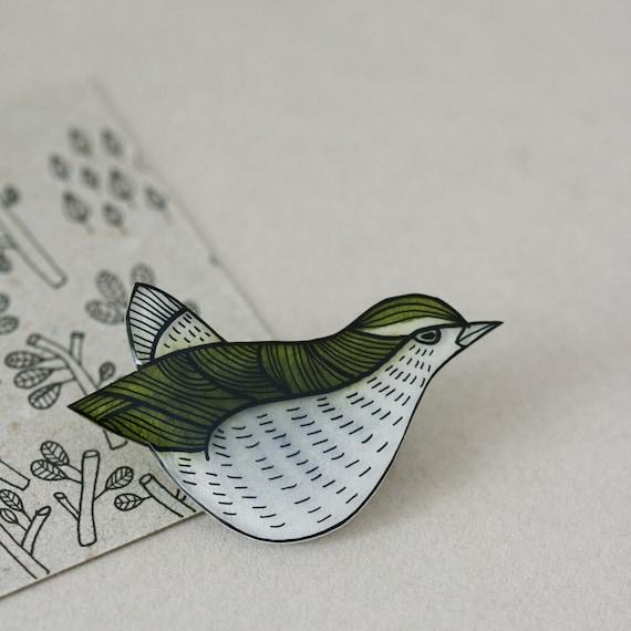 Extinct Birds - Bushwren - Pin