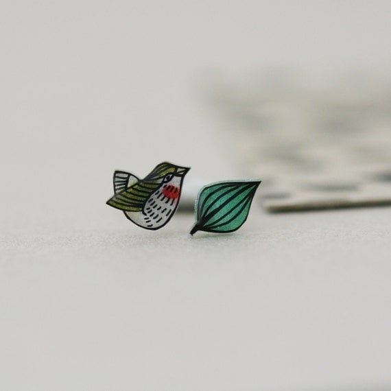 Extinct Birds - Bushwren - Earring Studs