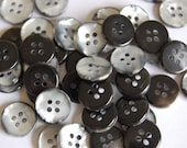 Black/silvery grey Buttons