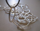 Sterling Silver Brushed Finish Oval Chain