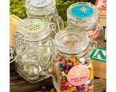 Small Apothecary Jars....personalize your apothecary jar for favors