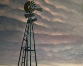 Windmill at Dusk ORIGINAL 24X18