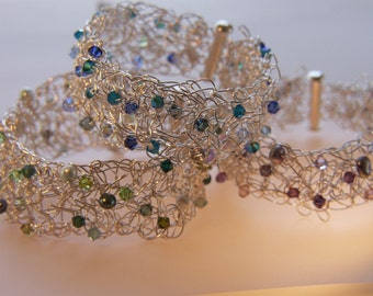 Crocheted Fine Silver Bracelets (made to order)