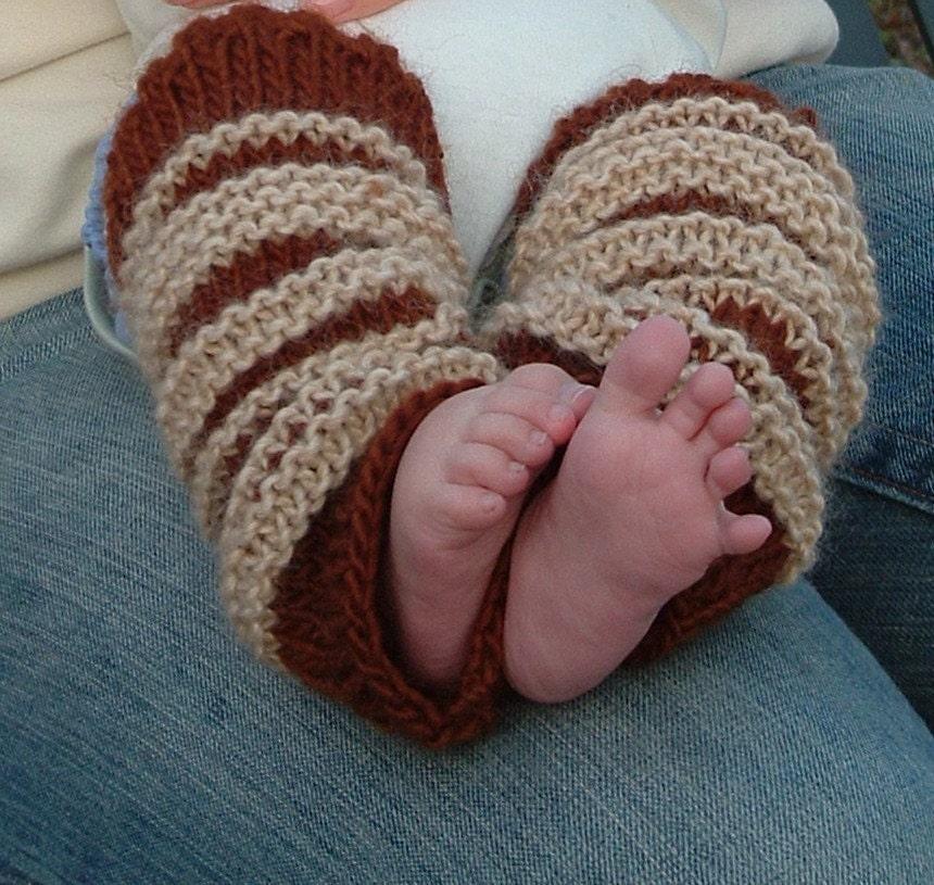PATTERN Striped Baby Leg Warmers