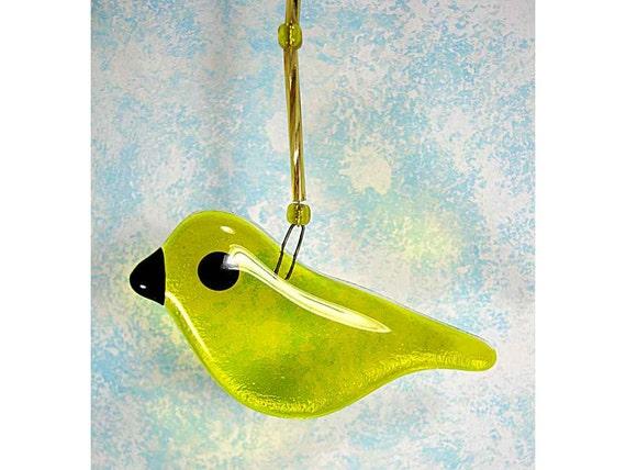 Little Glass Yellow Bird