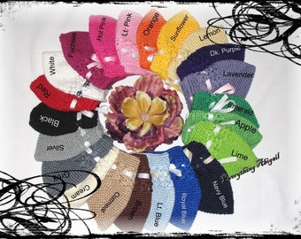 HUGE LOT of 12 Toddler Crochet Beanie Hats