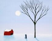 Last Big Snow Schnauzer dog print by Todd Young
