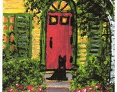 Scottie dog WELCOME art PRINT by Todd Young painting