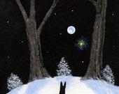 Doberman Pinscher Dog Art PRINT Todd Young painting WINTER LIGHTS