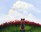 Yorkie SUMMER CLOUDS Modern Art PRINT from a Todd Young painting