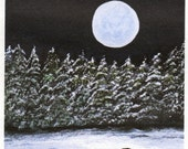 Black Lab WINTER SNOW limited edition reproduction art print of Todd Young painting