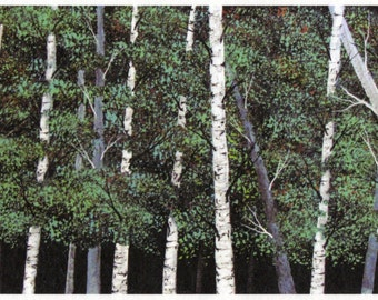 BIRCH FOREST limited edition art PRINT by Todd Young painting