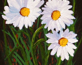 Daisies Modern Folk Art PRINT by Todd Young