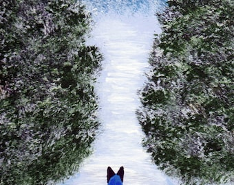 Blue Australian Cattle Dog Art PRINT Todd Young painting Winters Solace