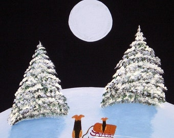 Airedale Welsh Terrier SNOW DAY limited edition reproduction art print of Todd Young painting
