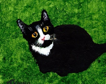 Tuxedo Cat print by Todd Young