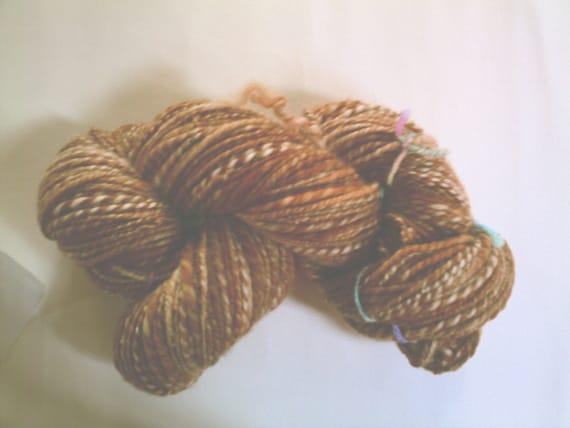 handspun superwash wool MARMALADE CAT yarn over 6 oz and 200 yards