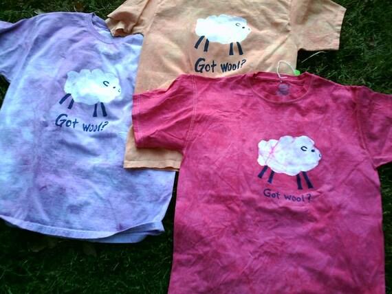 GOT WOOL Sheep Batik t-shirt Unisex M ORANGE