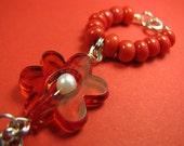Red Flower PULLIP Necklace