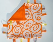 SALE Orange Ribbon Blanket