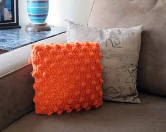 crochet popcorn pillow (orange)