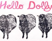 Hello Cloned Dolly Linocut