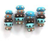 Lampwork beads, Handmade lampwork bead  glass, Lampwork beads, Lampwork beads set, Caterpillar Beads (4) SRA