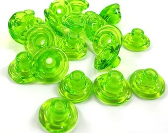 Handmade Lampwork Beads Glass - Lampwork beads set - Cone Shape Bead Caps (20) SRA