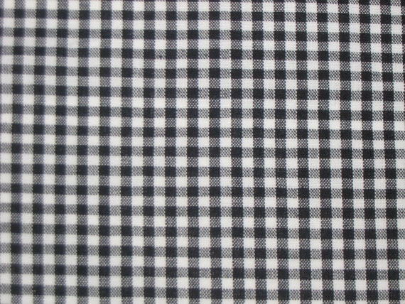 Black White 1 4 Inch Check Gingham All Cotton Fabric Sold