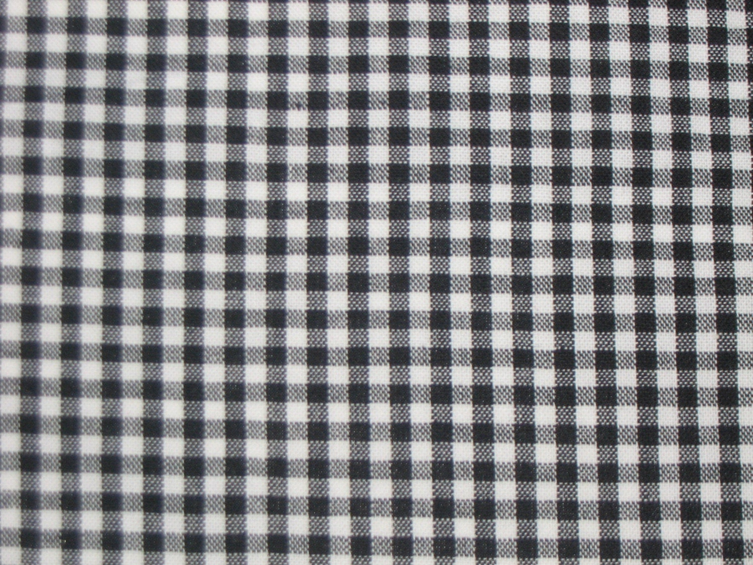 Black white 1 4 inch check gingham all cotton fabric sold for Gingham fabric