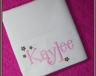 Flowers Personalized Pillowcase
