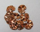 vintage copper coated steel lilypads