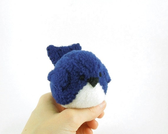 Navy Blue Bird Stuffed Animal Childrens Plush Toy Stuffie