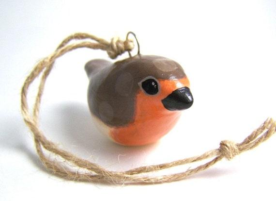 Polkadot Robin Ornament