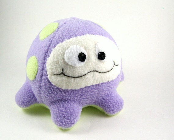Plush Microbe Large Lavender and Green Fluffcrobe