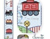 All Aboard -- Choo Choo TRAIN Canvas Growth Chart