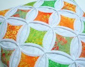 Cathedral Window Pillow Cover Batik Citrus Delight - 18 Inches