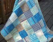 Modern Baby Boy Quilt Lap Joel Dewberry, Chestnut Hill 45 x 54