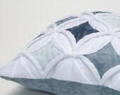 Pincushion Batik Mini Cathedral Window Pillow Smoky Blue - 5 Inches Square