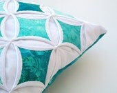 Tranquil Seas Batik Cathedral Window - 18 Inch Pillow Cover