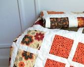 Lap Quilt Throw Quilt SALE Autumn Windows - 46 x 63
