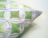Decorative Pillow Cover Throw Pillow Batik Green Cathedral Window - 18 Inches