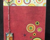 Hand Made Spiral Bound Graph Paper Note Pad - Spotted