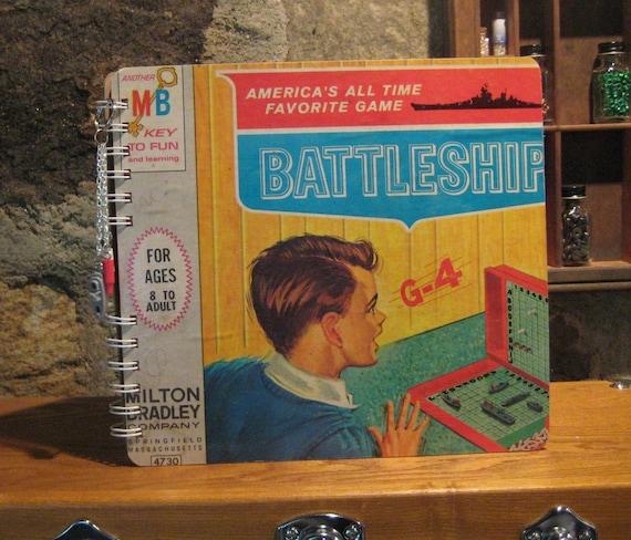 1967 battleship game box spiral bound notebook