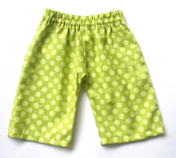 SALE Lounge Pants - Key Lime Dot - Ready To Ship
