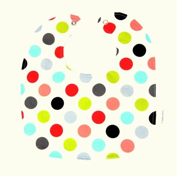 SALE Chenille Baby Bib - Mod Dot