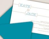Bracket Wedding Invitation Sample