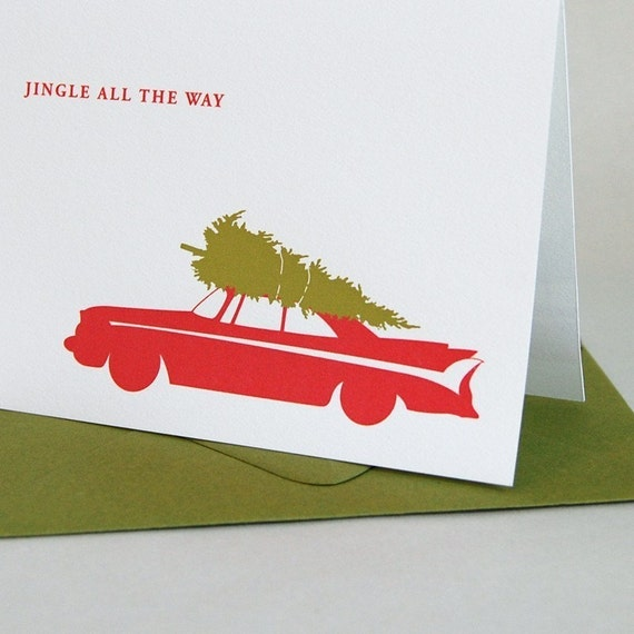 Classic Car Holiday Card Set of 12